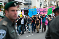 Human Rights March in Tel Aviv Stock Image