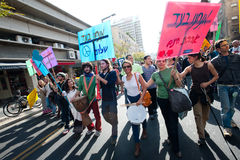 Human Rights March in Tel Aviv Stock Photography