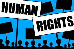 Human rights. People striving for more rights and a better life royalty free illustration