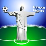 HUMAN RIGHTS and SOCCER Stock Photo