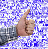 HUMAN RIGHTS- Thumb Up Royalty Free Stock Image