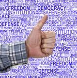 HUMAN RIGHTS- Thumb Up royalty free stock image