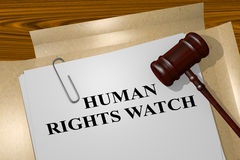 Human Rights Watch - concepto legal Fotos de archivo