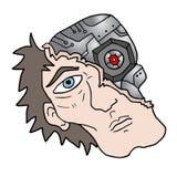 Human robot face Stock Images