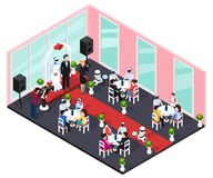 Human And Robot Wedding Concept royalty free illustration