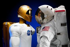 Human and robotic astronauts