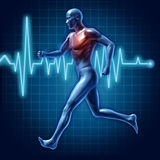 Human running cardiovascular health medical symbol Royalty Free Stock Photos