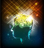 Human's brain power illustration. Neon collection Stock Images