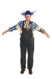 Human scarecrow. Isolated over white background Stock Photos