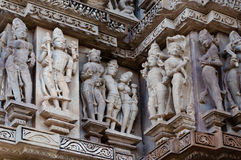 Human Sculptors at Khajuraho, India - UNESCO world heritage site Stock Image