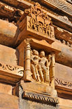 Human Sculptures at Khajuraho, India - UNESCO world heritage site. Stock Images