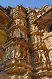Human Sculptures at Khajuraho, India - UNESCO world heritage site. Stock Photography
