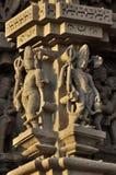 Human Sculptures at Vishvanatha Temple, Western temples of Khajuraho, Madhya Pradesh, India - UNESCO world heritage site. Royalty Free Stock Photos