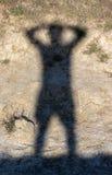 Human shadow Royalty Free Stock Photography
