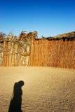 Human shadow at sand Royalty Free Stock Photography