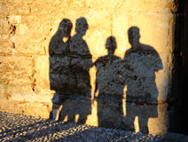 Human shadows Stock Images