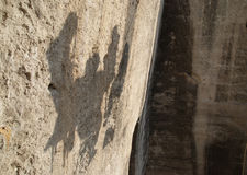 Human shadows Royalty Free Stock Photo