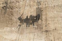 Human shadows Stock Photo