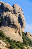 Human shape rocks in Montserrat Mountain, Spain Stock Photo
