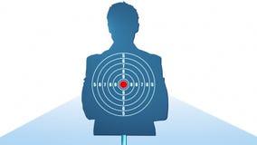 Human shooting target. stock video