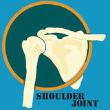 Human shoulder joint. Medicine, clinic symbol design, spine diagnostics center, flat design Stock Photography