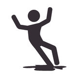 Human silhouette accident icon Stock Photography