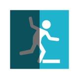 Human silhouette accident icon Stock Photo