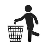 Human silhouette recycling icon. Illustration design Royalty Free Stock Photo