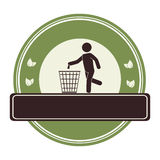 Human silhouette recycling icon. Illustration design Royalty Free Stock Photography