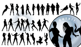 Human silhouettes Royalty Free Stock Images