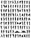 Human Silhouettes royalty free illustration