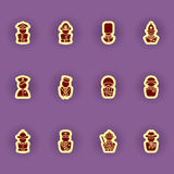 Human silhouettes icon set Stock Photos