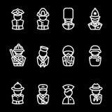 Human silhouettes icon set Royalty Free Stock Image