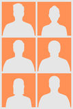 Human silhouettes Stock Photo