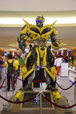 Human Size model of Bumblebee from Transformers Royalty Free Stock Image
