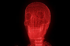 Human Skeleton Wireframe Hologram in Motion. Nice 3D Rendering Royalty Free Stock Photos
