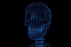 Human Skeleton Wireframe Hologram in Motion. Nice 3D Rendering Stock Photos