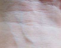 Human skin. Close up of human skin with veins Stock Photo