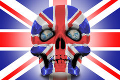 Human skull against the Union Jack Royalty Free Stock Photo