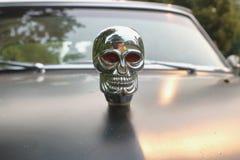 Human Skull Car Hood Ornament Stock Image