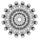Human Skull circular pattern Royalty Free Stock Image