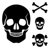 Human skull cross bones symbol Royalty Free Stock Photo
