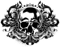 Human skull decorative Stock Images