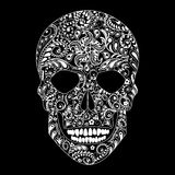 Human skull in floral shape Stock Images