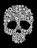 Human skull in floral style Stock Photo