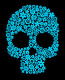 Human skull with flower elements Stock Photography