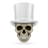 Human skull with hat on Stock Photography