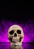 Human skull head with smoke Stock Photos