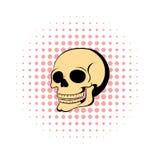 Human skull icon, comics style Stock Photo
