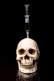 Human skull and Medical equipment Stock Photos